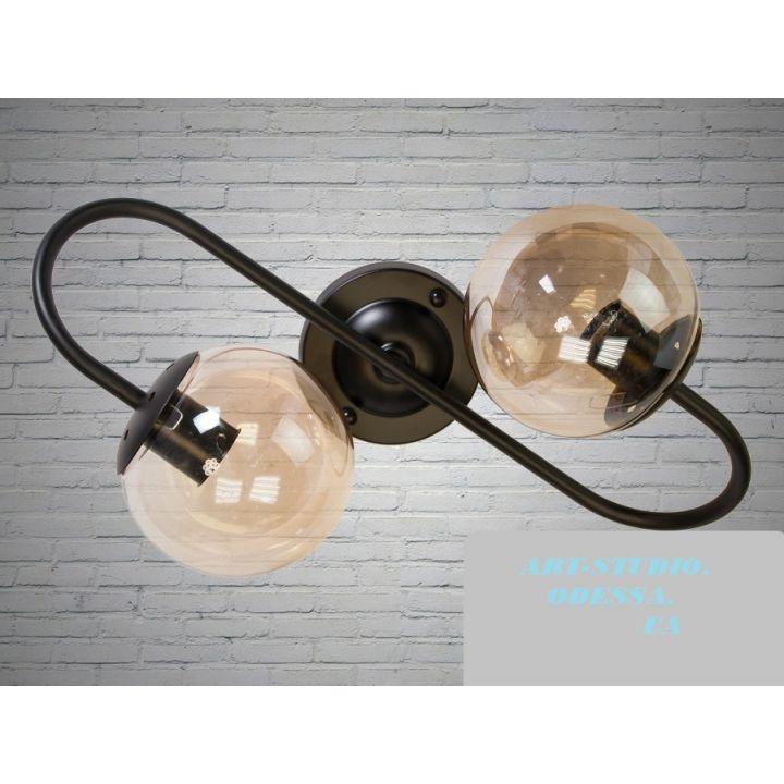 """Бра в стиле Loft - """"Молекула"""" на 2 лампы"""