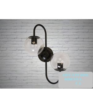 """Бра в стиле Loft - """"Молекула"""" на 2 лампы 356-2CL"""