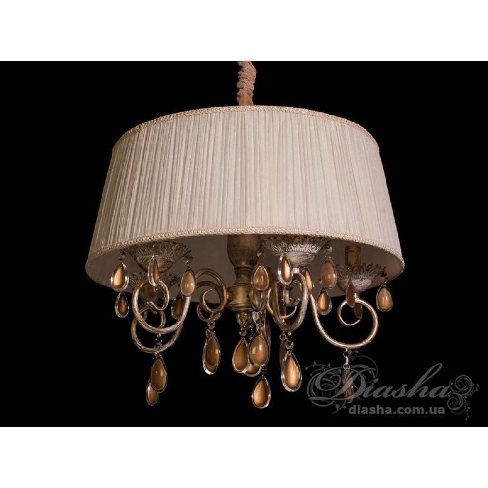 классическая люстра с абажуром и изящным резным декором 48041p 5