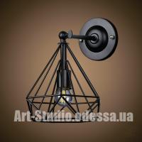 Настенный светильник,бра лофт 707W157-1 BK