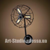 Настенный светильник,бра лофт 707W148-3 BK