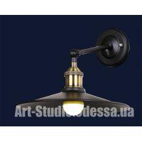 Настенный светильник,бра лофт 707W135-1BK (27см)