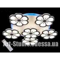 Потолочная LED-люстра с подсветкой, диммер 120W 8063/5+1WH LED dimmer