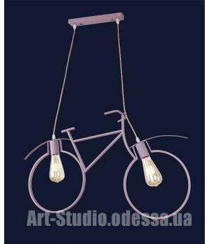 Люстра Лофт подвес велосипед  756PR7021-2 PINK-BEIGE