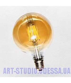 """COW лампа LED G125 6W Amber 2300K E27 DIMMABLE"""