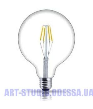 """COW лампа LED G125  6W Clear 2700K E27 DIMMABLE"""