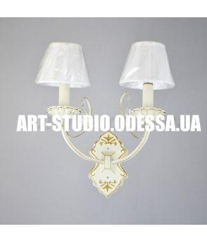 Бра на две лампы MB-3776/2BW YG+WT