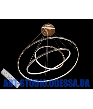 LED люстра с диммером, 150W  MD9079-3HR-800+600+400 dimmer (хром)
