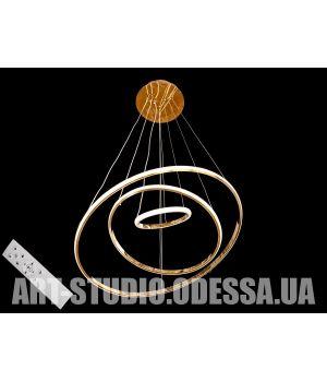 LED люстра с диммером, 110W MD9079-3AG-600+400+200 dimmer (золото)