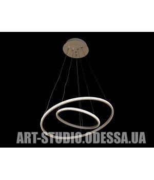 LED люстра с диммером, 70W MD9079-2AWH-500+300dimmer
