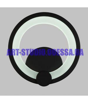 Бра LED 10-6600/1 BK(9W*2)