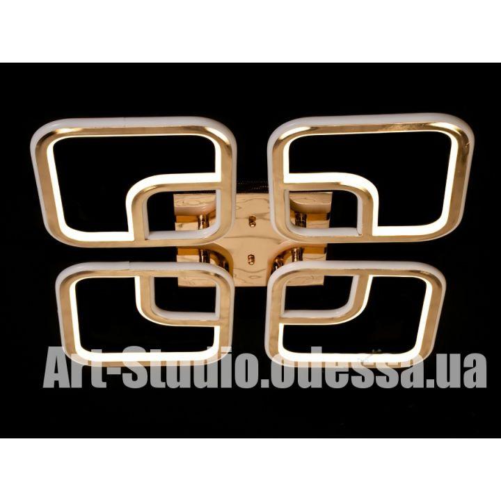 Потолочная светодиодная люстра MX6209/4FG C (хром,золото)