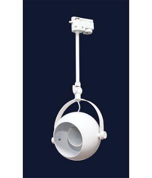 Прожектор на треке 7521209-1А (черный,белый)
