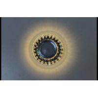 Точечный светильник с LED подсветкой декоративной части A143 Black