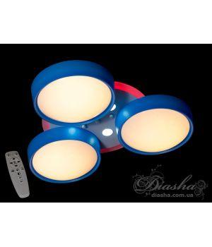 Идеальная люстра для детской комнаты B001BL dimmer (синий, розовый)