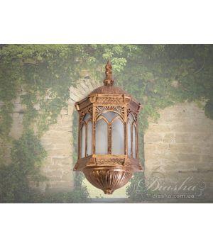 """Настенный садово-парковый светильник """"половинка"""" DJ018-M-WB GB"""