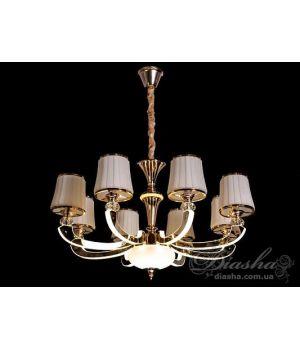 Классическая люстра со светящимися рожками DM8399/8(хром,золото)