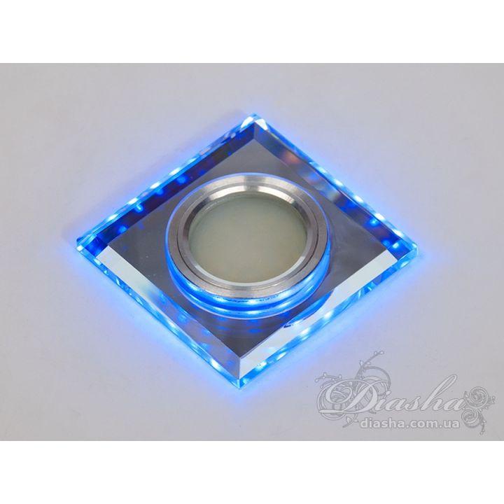 Светильник со встроенной светодиодной подсветкой 6017WH+BL