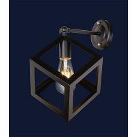 Настенный светильник,бра лофт 707W136-1 BK (белый,черный)