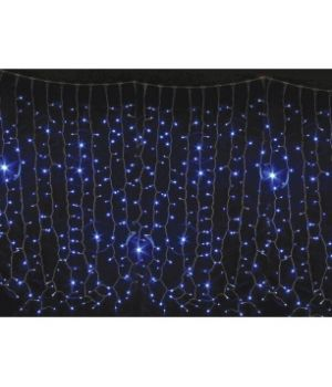 Гирлянда внешняя DLX CURTAIN 456LED 2x1.5m синий/черный IP44 EN