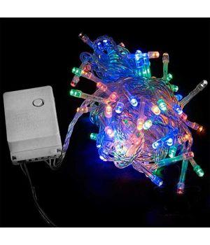 Гирлянда внутренняя DLX STRING С 100LED 5m мульти/прозрачный IP20