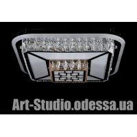 "Хрустальная светодиодная люстра ""ТОРТ"" L1713/500*500/8+4 LED"