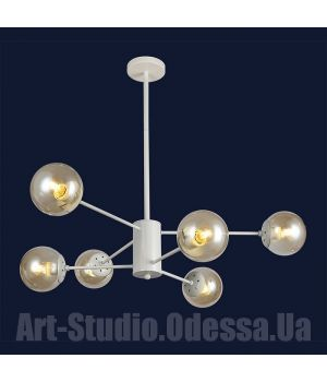 """Люстра в стиле Loft - """"Молекула"""" на 6 ламп 7526033-6 WH (белый,черный,бронза,прозрачный)"""
