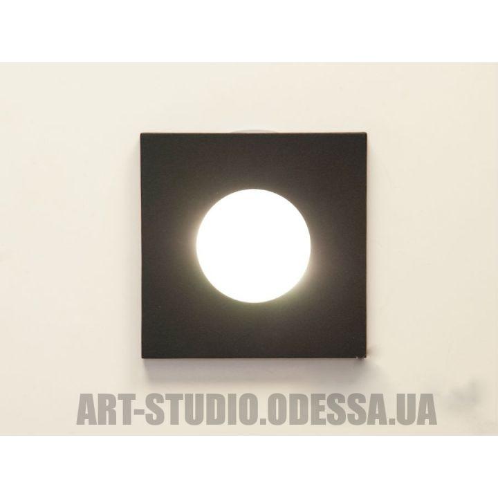 """Влагозащищённый точечный светильник, серия """"Аluminium"""" 160B-41-BK (черный, серебро)"""