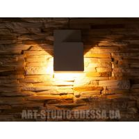 Плоский фасадный LED светильник DFB-5001-Z-WH