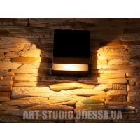 Плоский фасадный LED светильник DFB-5001-C-BK