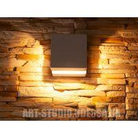 Плоский фасадный LED светильник DFB-5001-C-WH