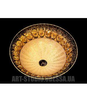 Потолочный светильник светодиодный 30w  66067-300-1B  (хром,золото)