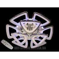Потолочная светодиодная люстра, 165W 8118/6+3HR LED 3coler dimmer (хром)