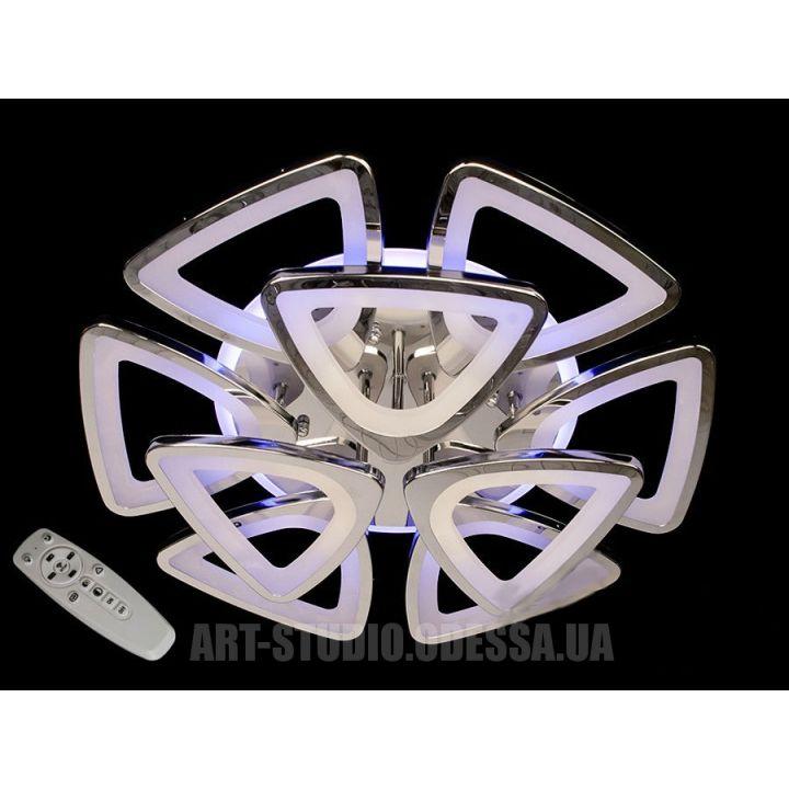 Потолочная люстра, 165W 8118/6+3HR LED 3coler dimmer (хром)