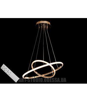 LED люстра с диммером, 70W MD9079-2AG-500+300 dimmer (хром,золото)