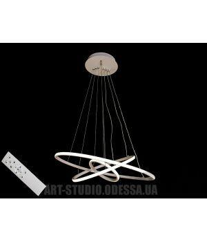 LED люстра с диммером, 110W MD9079-3AWH-600+400+200 dimmer (белая,черная)