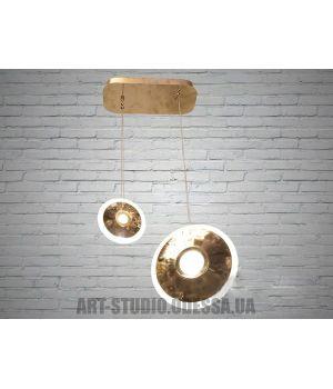 LED люстра в стиле Нордик, 25W 6658/1+1-G (хром,золото)