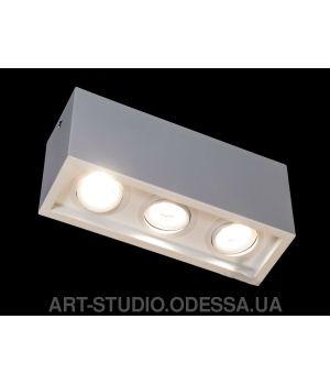 Накладной точечный светильник 136F-3-WH