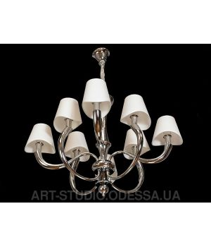 Классическая люстра в стиле ар-нуво на 8 ламп 19041/8HR (хром, золото)