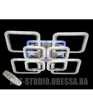 LED-люстра с диммером и синей подсветкой, цвет хром, 150W A8060/4+4HR LED dimmer