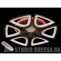 Потолочная  светодиодная люстра, MP3, 115W 8118/6CF MP3 LED 3color dimmer (белая)