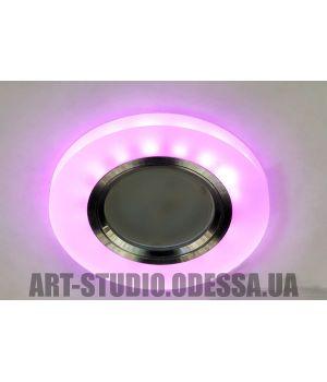 Акриловые точечные светильники с розовой подсветкой 7870R WH+PK