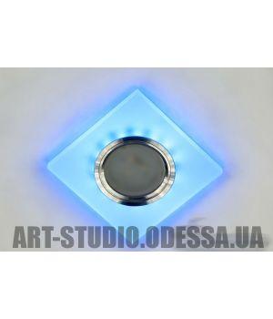 Акриловые точечные светильники с синей подсветкой 7870S WH+BL