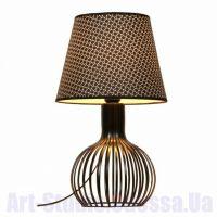 Настольная лампа с черным абажуром и фигурной ножкой SL - ZD013TB