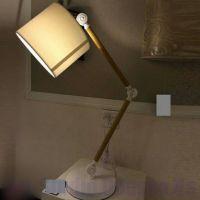 Настольная лампа торшер с бежевым абажуром и регулируемой ножкой SL - ZD004TW