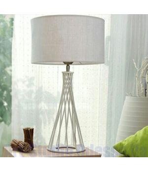 Настольная лампа торшер с белым абажуром и фигурной ножкой SL - ZD008TW