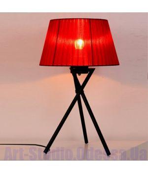 Настольная лампа с красным абажуром на треноге SL - ZD015TR