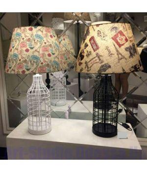 Настольная лампа с принтованным цветным абажуром и основанием в виде бутылки SL - ZD020TBL