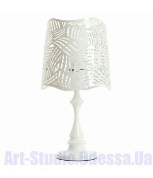 Настольная лампа белого цвета с перфорацией на абажуре SL - ZD012TW