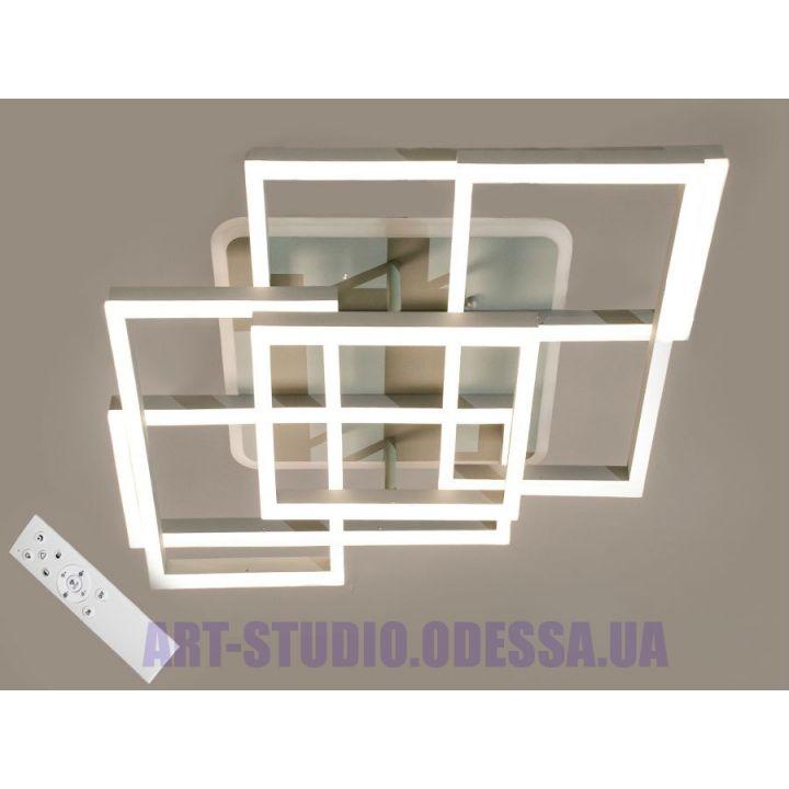 Потолочная LED-люстра, 165W 11014/4+1 GR LED 3color dimmer (белая,коричневая,серая)